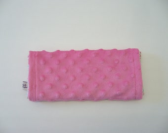 Eye Pillow with washable cover Pink- Contains organic flaxseeds and lavender
