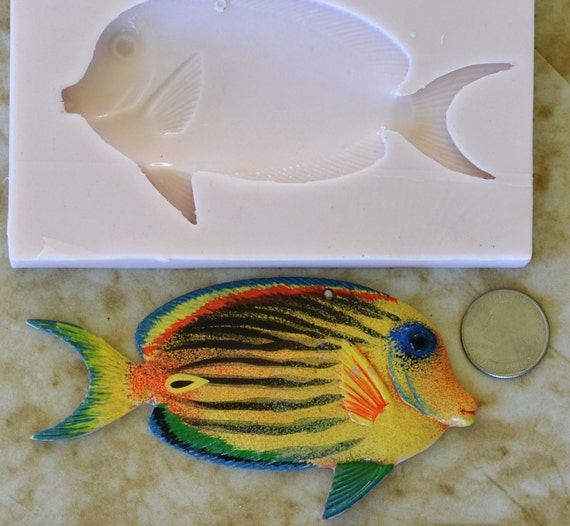 Fish silicone mold silcone molds soap cake candy for Silicone fish molds