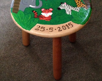 Unique Personalized Stool Related Items Etsy