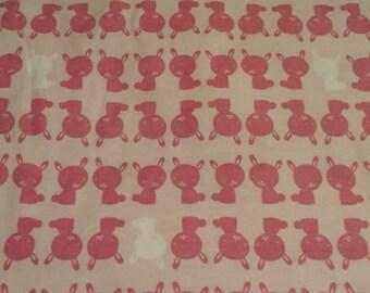 Pink Bunny Pillowcase