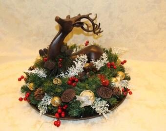 Christmas Deer Centerpiece