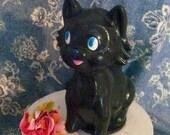 Vintage Black Cat Squeaky Toy Black Skunk Squeaky Toy Halloween Black Cat Collectible Toy