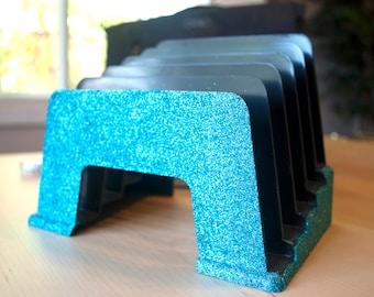 Turquoise File Sorter, Office Supplies, Glitter Office Supplies, File Sorter, Turquoise Classroom, Classroom Supplies, Desk Organizer
