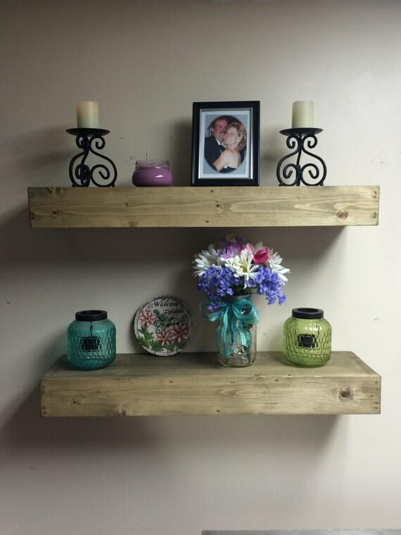 floating shelfchunky shelf 32 48 inches long8. Black Bedroom Furniture Sets. Home Design Ideas