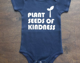 Organic  baby bodysuit - screen printed graphic tee - t shirt - organic cotton one piece - sustainable- eco friendly - boys - girls-triblend