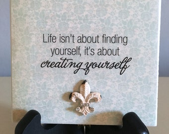 Creating Yourself Sign