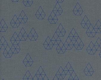 1/2 YD or 1 YARD Fabric -  Geo Drops - Denim ~ Cotton+Steel