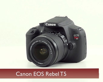 Canon EOS Rebel T5 18.0 MP Digital SLR Camera - Black( includes lens)