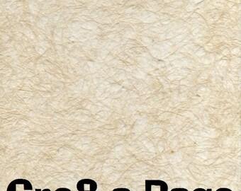 Cre8-a-Page F-1 Handmade Cream Transparent Fiber Paper 12x12 Scrapbooking, 10 Sheets