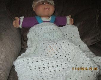 "Baby Car seat blanket, 21"" x 21""."