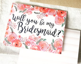 Bridesmaid Card- Ask your friends to stand by your side!