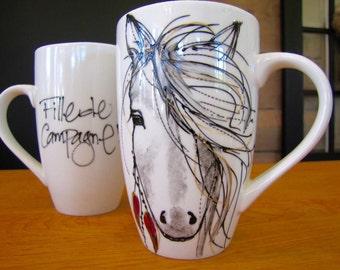 Cup coffee horse Boho