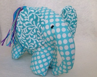 Stuffed elephant toy, elephant plush, elephant stuffed animal, cotton stuffed animal