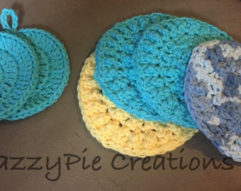 Green Eco Friendly Face Scrubbies