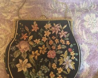 Vintage tapestry bag 1930s