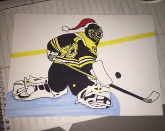 Custom Handmade Bruins Hockey Greeting Card