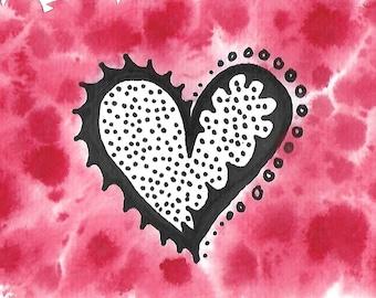 """Original Art Print, """"Fancy Heart"""""""