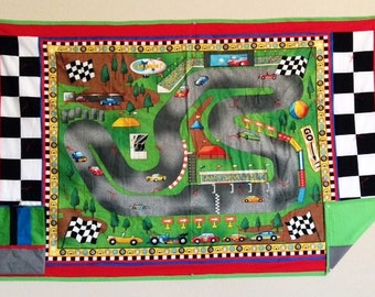 Race Track Quilt w/Pillowcase
