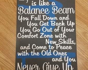 Gymnastics - Life is Like a Balance Beam