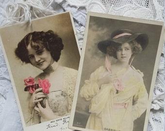 Pretty antique postcards