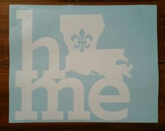 Louisiana Home Vinyl Decal