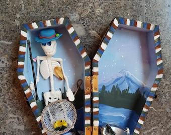 Sugar Skull Fisherman Coffin
