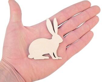 Wooden Rabbit (7cm) Shape Art Projects Craft Decoration Embelishments Decoupage Ornament Craft Supply MG000263