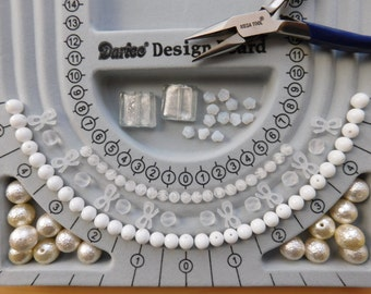 Assorted White Beads - Destash