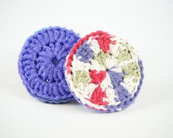 2 piece - Double Thick Two-Sided (Cotton/Nylon) Scrubbies