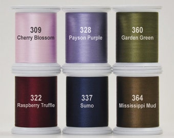 Silk Thread - Kimono Thread - Superior Threads - Applique Thread - Happy Trails - #100 Silk Thread