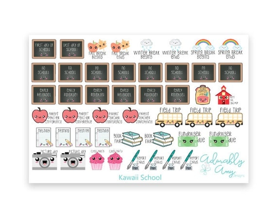 Teenies Kawaii Grade School Planner Stickers