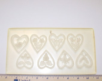 Multi-image Hearts Springerle Mold for Cookies, Confections and Crafts; Gingerbread Marzipan Beeswax Paper Castings Wax Castings Ornaments
