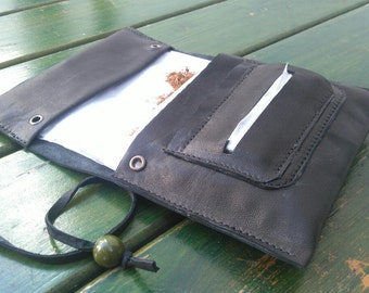 Tobacco pouch Handmade leather