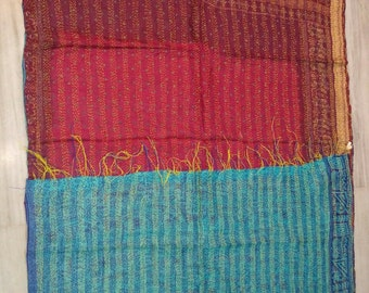 Scarves Handmade handwork scarves Vintage handmade kantha scarves Vintage Kantha Stoles Reversible Kantha Scarves Silk Scarves Saree scarves