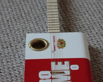 Cigar Box Guitar - 4 String Acoustic Romeo Y Julieta Guitar