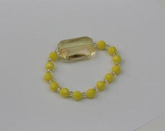 happiness yellow beaded bracelet #40