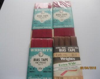 4 Packaages VIntage Tape Wine and Seal Brown