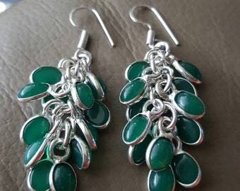 Green Onyx Earrings!