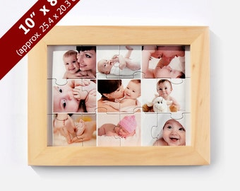 Wooden Puzzle Standing Frame, Hanging Frame for 8x10 inches
