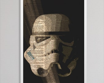 Stormtrooper print newspaper decor art colorful poster