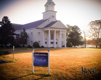 Scotts Hill Baptist Church Fall Morning in Wilmington, NC
