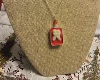 Felted Tooth Necklace