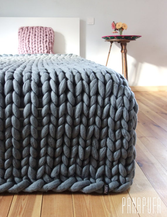super chunky kingsize blanketmerino blanket super chunky. Black Bedroom Furniture Sets. Home Design Ideas
