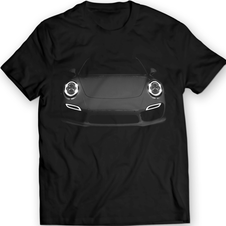 porsche 991 turbo s t shirt mens gift idea headlights glow. Black Bedroom Furniture Sets. Home Design Ideas