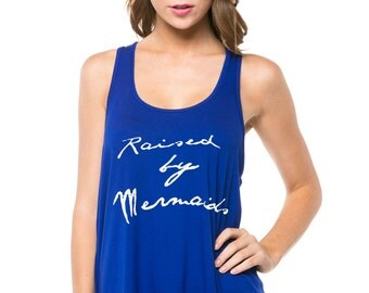 Women's Print Racerback Tank Top - Available in Royal Blue or Coral