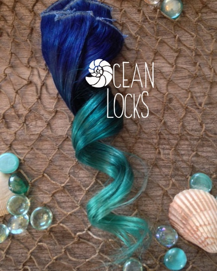 Blue hair Turquoise Hair Teal Hair Ombre Hair Extensions