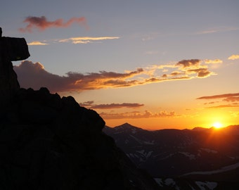 Mt. Evans sunset view