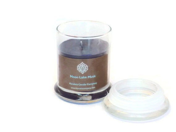 Moon Lake Musk Scented Candle in 12 oz  Libby Jar with Lid