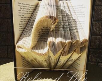 Book art, Book Folding Pattern, Love, folded book art, pattern, folded book tutorial, bookfolding, Tutorial, Digital download