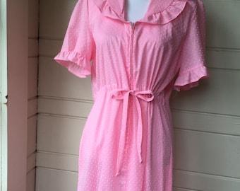 Vintage pink maxi dress